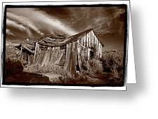 Old Shack Bodie Ghost Town Greeting Card by Steve Gadomski
