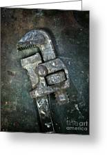 Old Spanner Greeting Card by Carlos Caetano