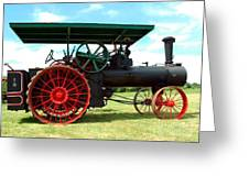 Old Steam Engine Greeting Card by Kathleen Struckle