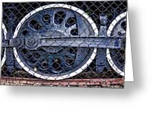 Old Steam Engine -train Wheels Greeting Card by Liane Wright