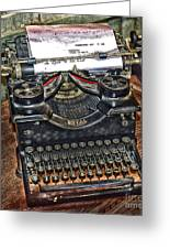 Old Technology Greeting Card by Arnie Goldstein