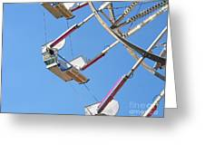 Old Time Ferris Wheel Greeting Card by Ann Horn