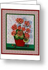 Old Time Geraniums Greeting Card by Barbara Griffin