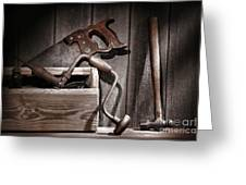 Old Tools Greeting Card by Olivier Le Queinec