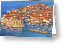 Old Town Dubrovnik Greeting Card by Douglas J Fisher