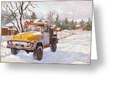 Old Town Ride Greeting Card by Chula Beauregard