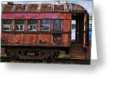 Old Train Car Greeting Card by Garry Gay