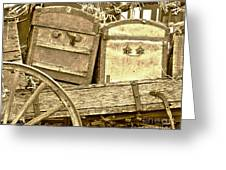 Old Trunks In Genoa Nevada Greeting Card by Artist and Photographer Laura Wrede