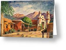 Old Tucson Greeting Card by Marilyn Smith