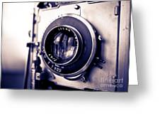 Old Vintage Press Camera  Greeting Card by Edward Fielding