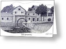 Old Water Mill Greeting Card by Frederic Kohli