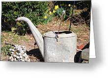 Old Watering Can Greeting Card by Carolyn Ricks