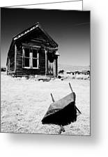 Old Wheelbarrow Greeting Card by Cat Connor