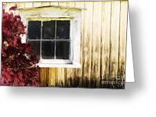 Old White Window Greeting Card by Martin Dzurjanik