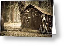 Old Wooden Shed Yosemite Greeting Card by Jane Rix