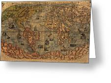 Old World Map Greeting Card by Dan Sproul