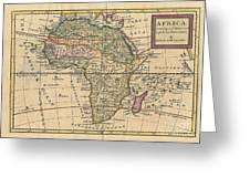 Old World Map Of Africa Greeting Card by Inspired Nature Photography By Shelley Myke