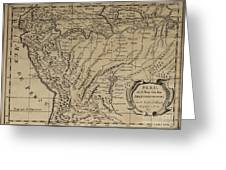 Old World Map Of Peru Greeting Card by Inspired Nature Photography By Shelley Myke