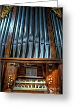 Olde Church Organ Greeting Card by Adrian Evans