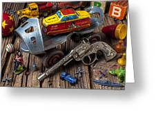 Older Roller Skate And Toys Greeting Card by Garry Gay