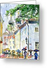 Oldtown Tallinn Estonian Greeting Card by John D Benson