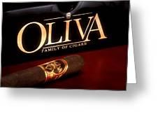 Oliva Cigar Still Life Greeting Card by Tom Mc Nemar