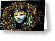 Omo Valley Man With Wreath Greeting Card by Jann Paxton
