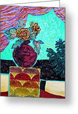 On A Pedestal Greeting Card by Diane Fine