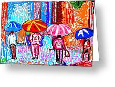 On A Rainy Day Greeting Card by Anand Swaroop Manchiraju