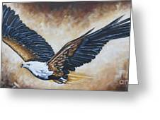 On Eagle's Wings Greeting Card by Ilse Kleyn