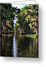 On Golden Canal Greeting Card by Lana Trussell