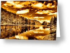 On Golden Pond Greeting Card by David Patterson