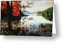 On Jordan Pond Greeting Card by Lianne Schneider