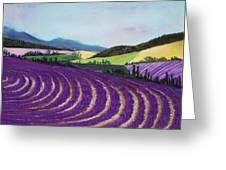 On Lavender Trail Greeting Card by Anastasiya Malakhova