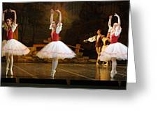 On Point Russian Ballet Greeting Card by Linda Phelps