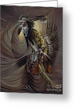 On Sacred Ground Series IIl Greeting Card by Ricardo Chavez-Mendez