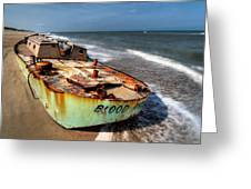 On The Beach I - Outer Banks Greeting Card by Dan Carmichael