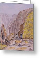 On The Edge Greeting Card by Donna Oshea
