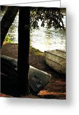On The Island Greeting Card by Michelle Calkins