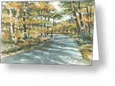 On The Road Home Greeting Card by Kerry Kupferschmidt