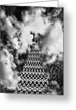 On The Stairway To Heaven Bw Palm Springs Greeting Card by William Dey