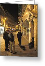 On The Street Greeting Card by Mike McGlothlen