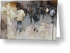 On The Street Greeting Card by Tibor Nagy