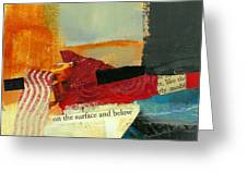 On The Surface And Below Greeting Card by Jane Davies