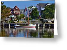 On The Waterfront Greeting Card by Mel Steinhauer