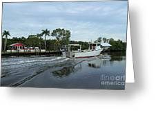 On The Waterfront Greeting Card by Theresa Willingham