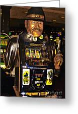 One Arm Bandit Slot Machine 20130308 Greeting Card by Wingsdomain Art and Photography