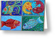 One Fish Two Fish Greeting Card by Sarah Loft
