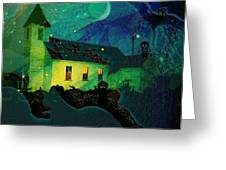 One Hallowed Evening Greeting Card by Shirley Sirois
