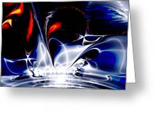 One Night Spent In Tshepkeliai Provided By The Abundance Listening To Music Klaus Schulze Lighting Greeting Card by Tautvydas Davainis